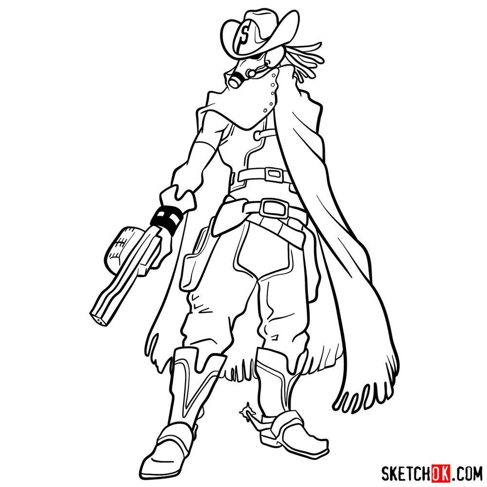 How to draw Snipe   My Hero Academia - step 18