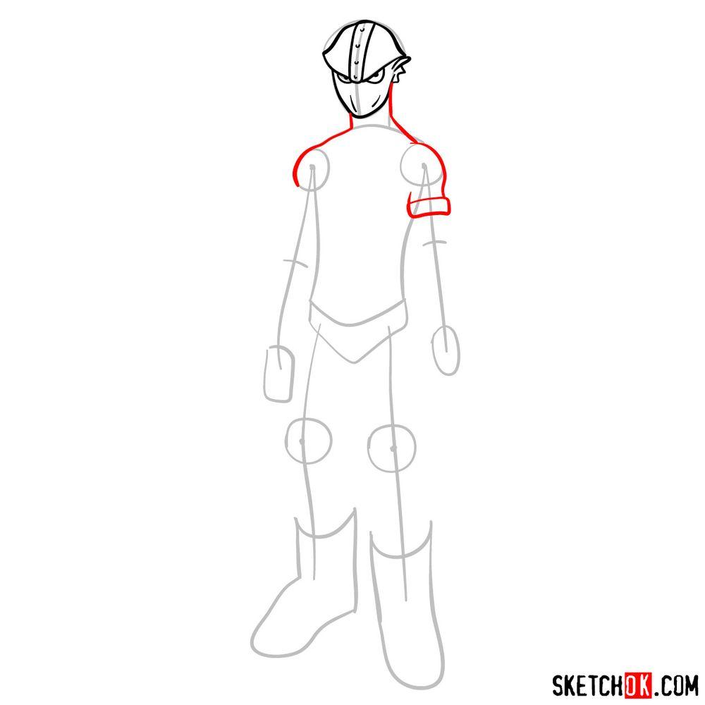 How to draw Kamui Woods - step 05