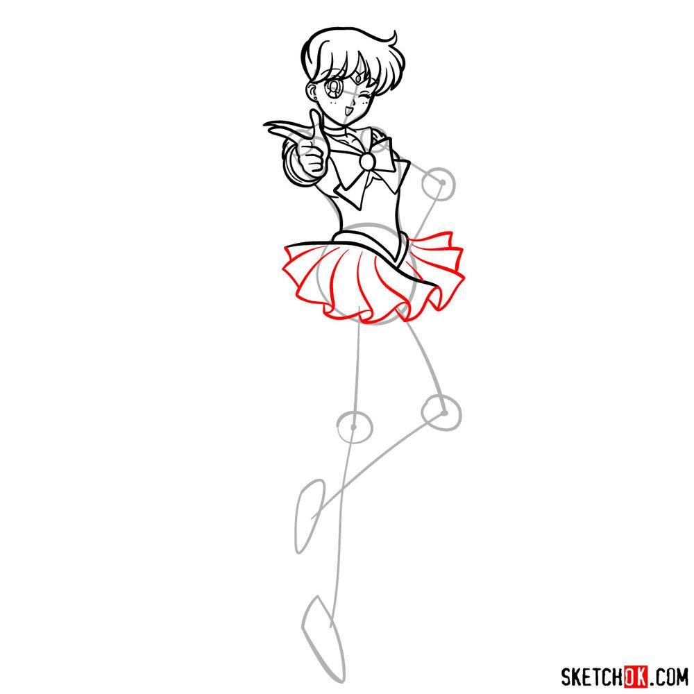 How to draw Sailor Venus - step 11
