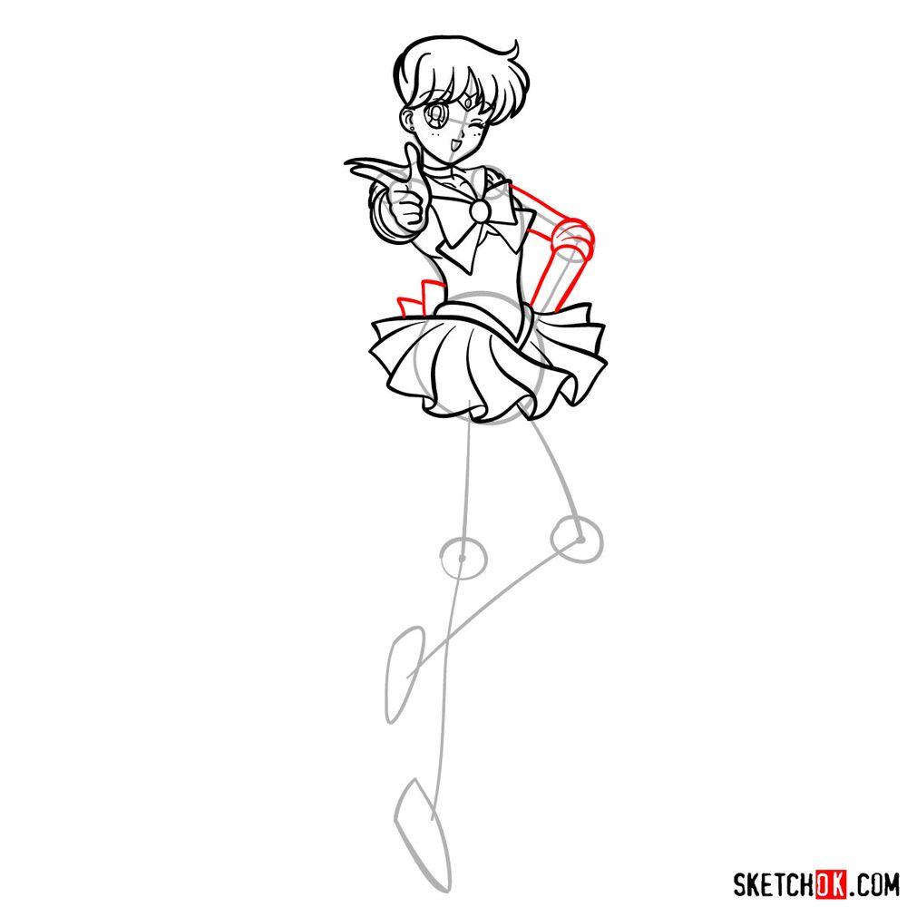How to draw Sailor Venus - step 12