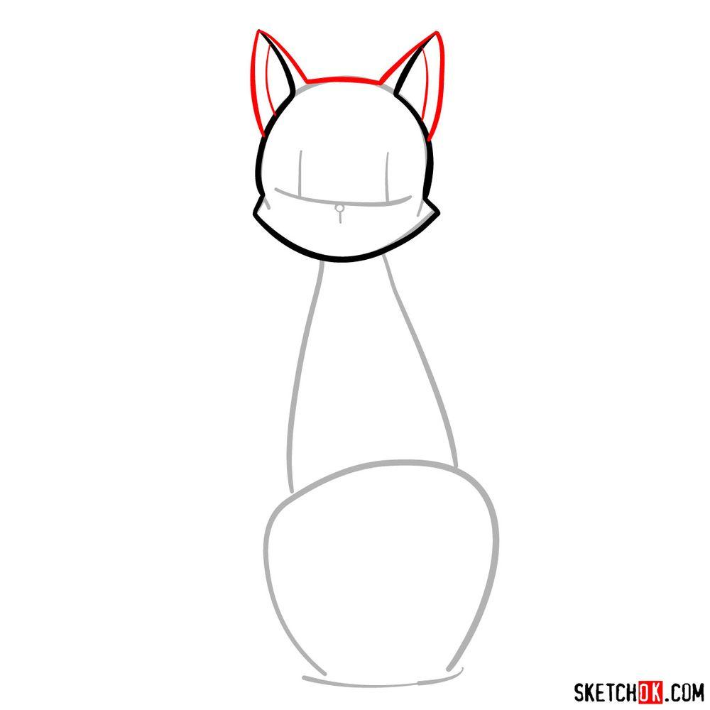 How to draw Luna - step 03