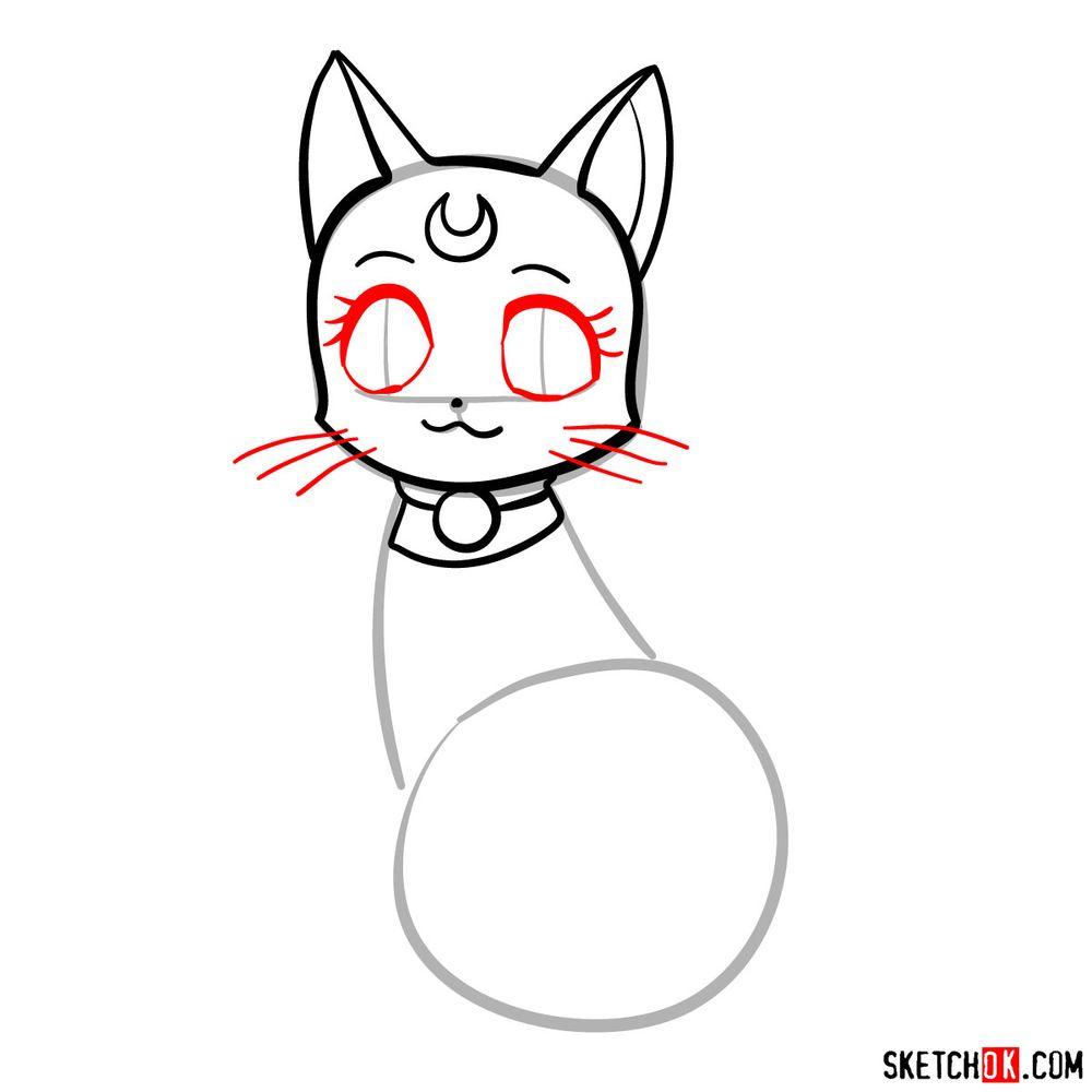 How to draw Diana - step 05