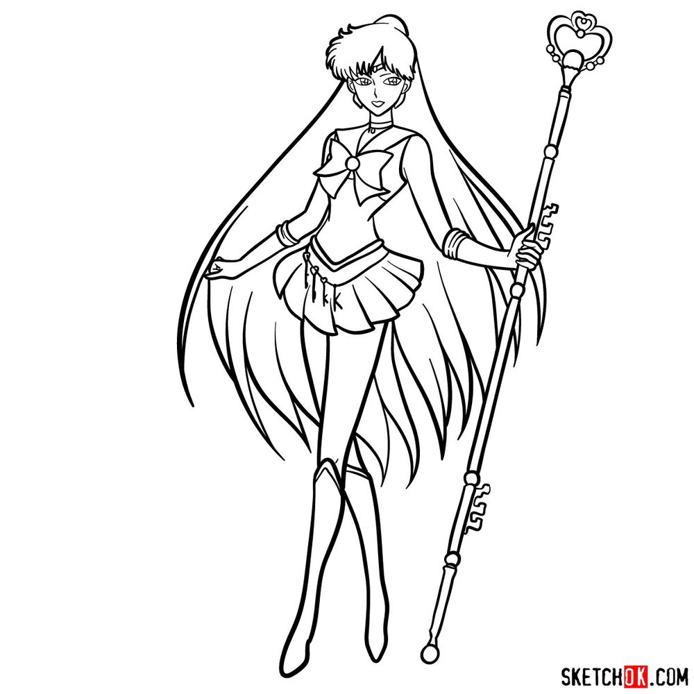 How to draw Sailor Pluto