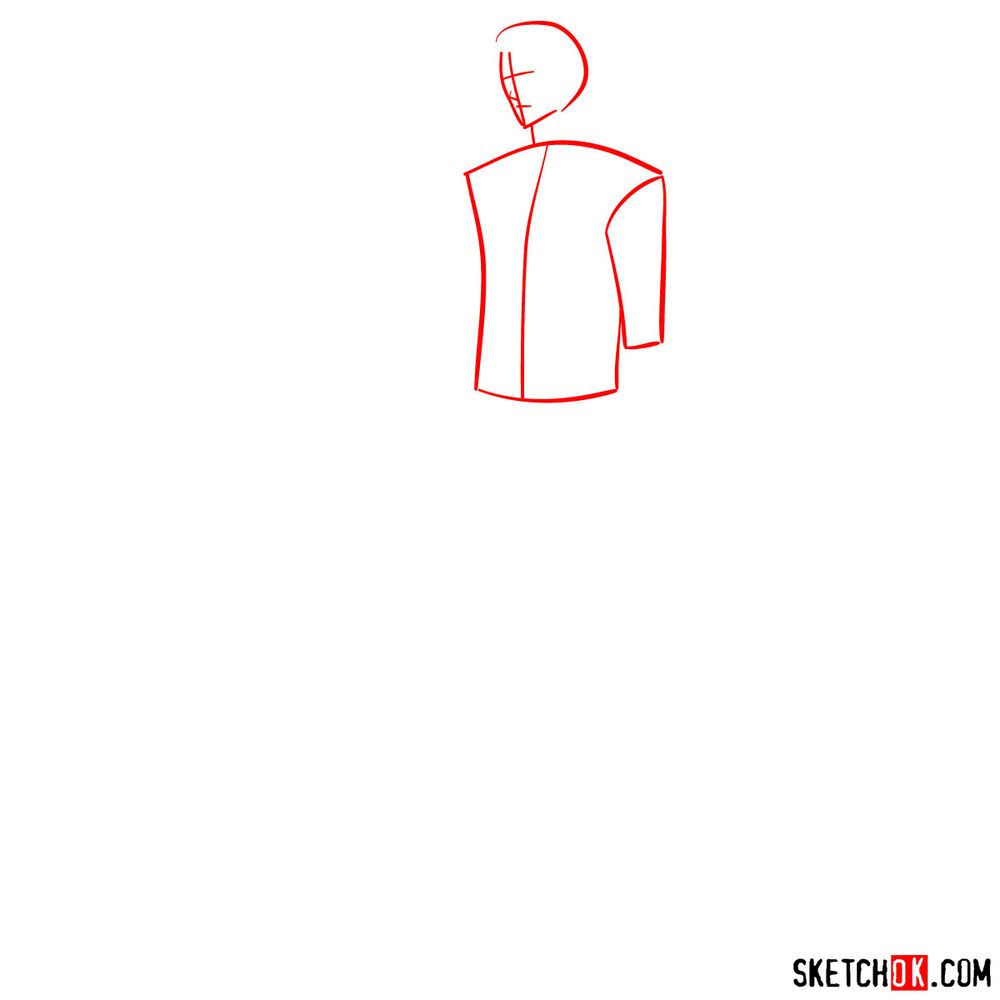 How to draw Alucard - step 01