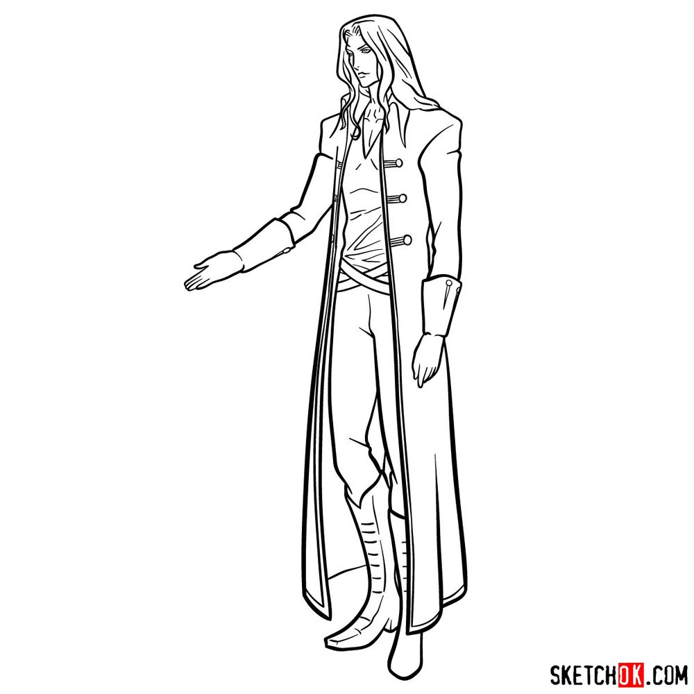 How to draw Alucard