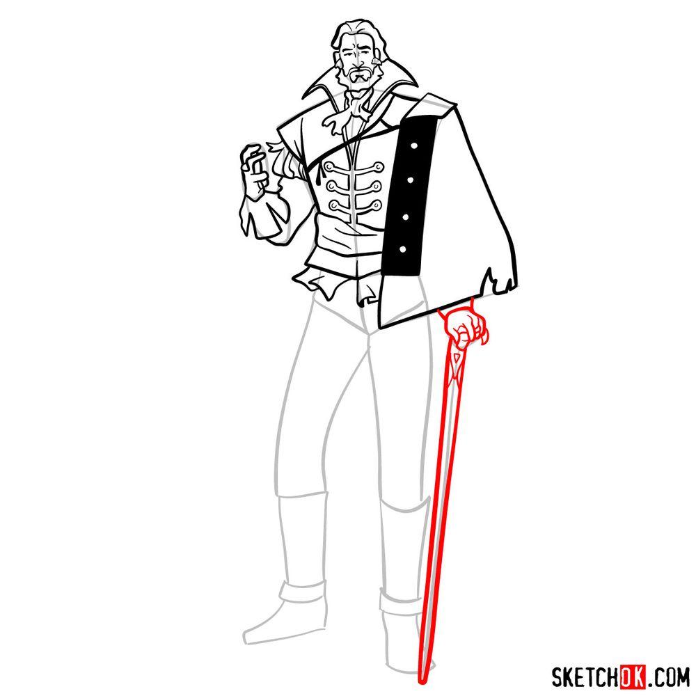 How to draw Saint Germain - step 13