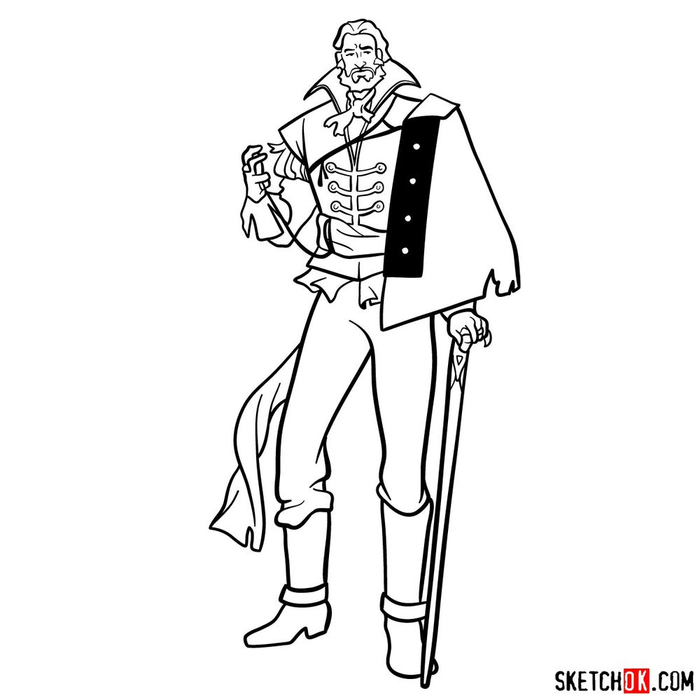 How to draw Saint Germain