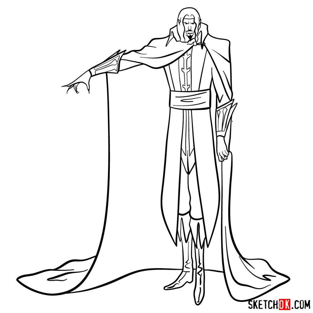 How to draw Vlad Dracula Tepes