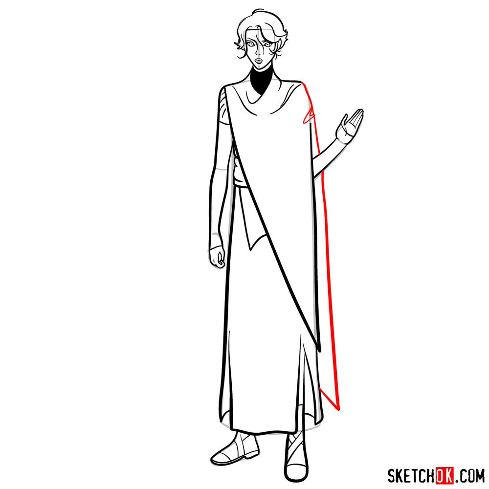 How to draw Sypha Belnades - step 16