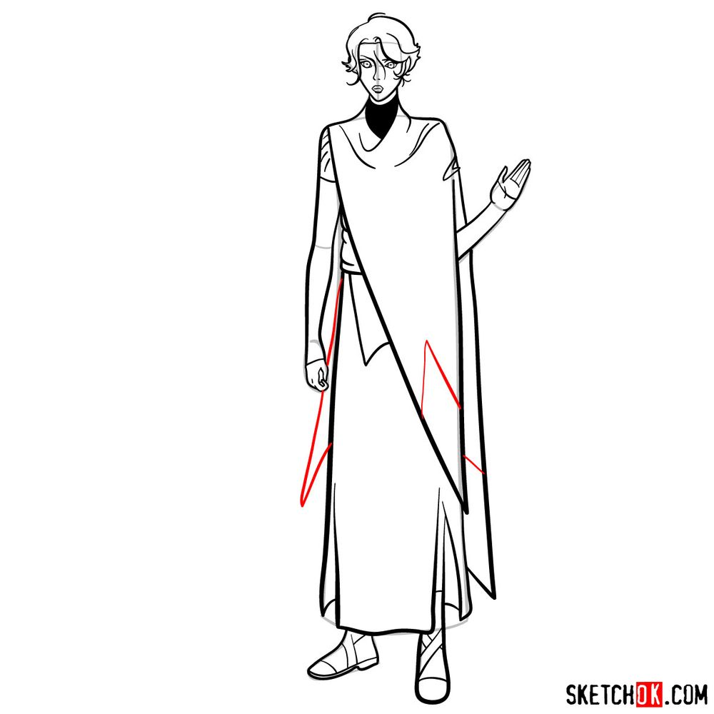 How to draw Sypha Belnades - step 17