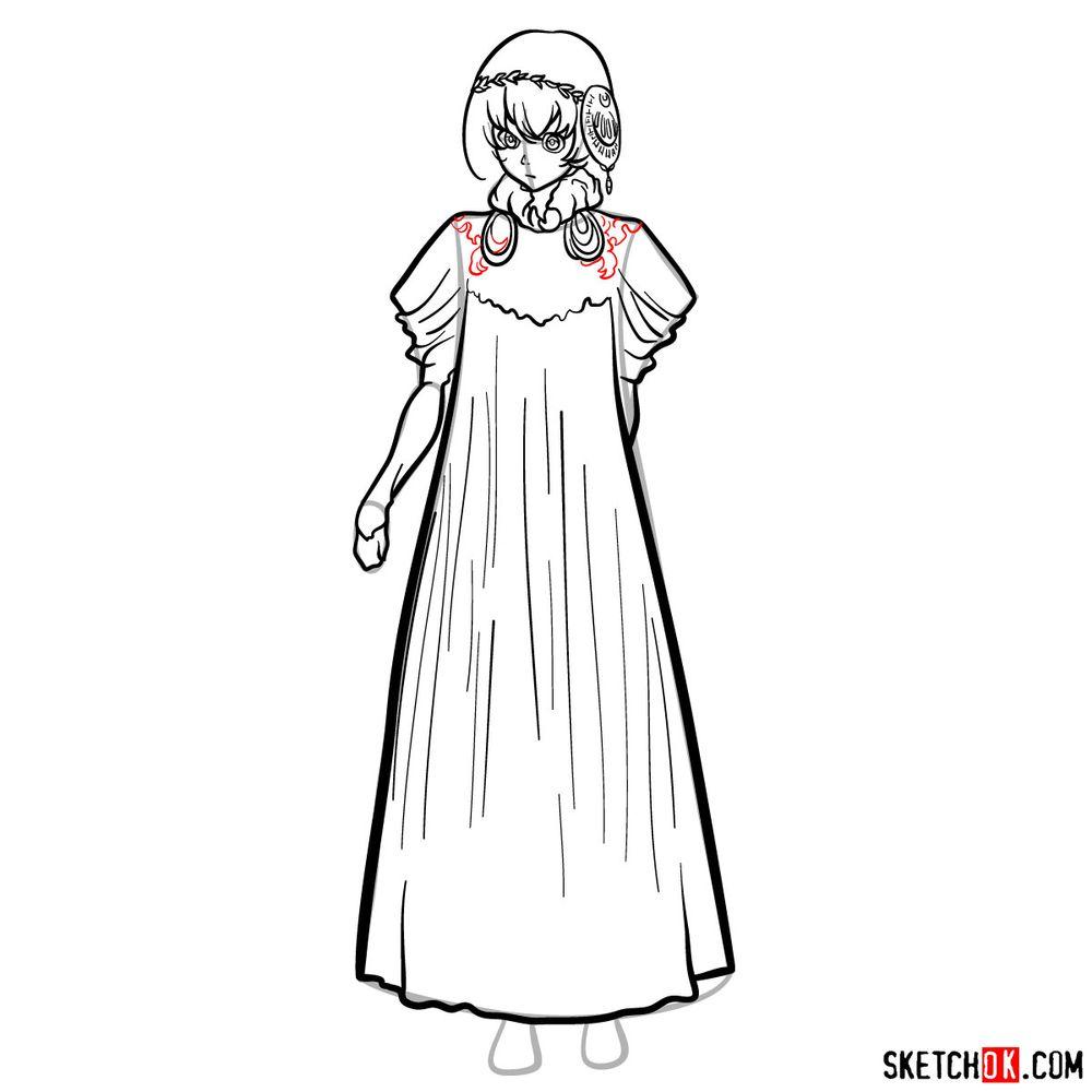 How to draw Lux Sibyl - step 12