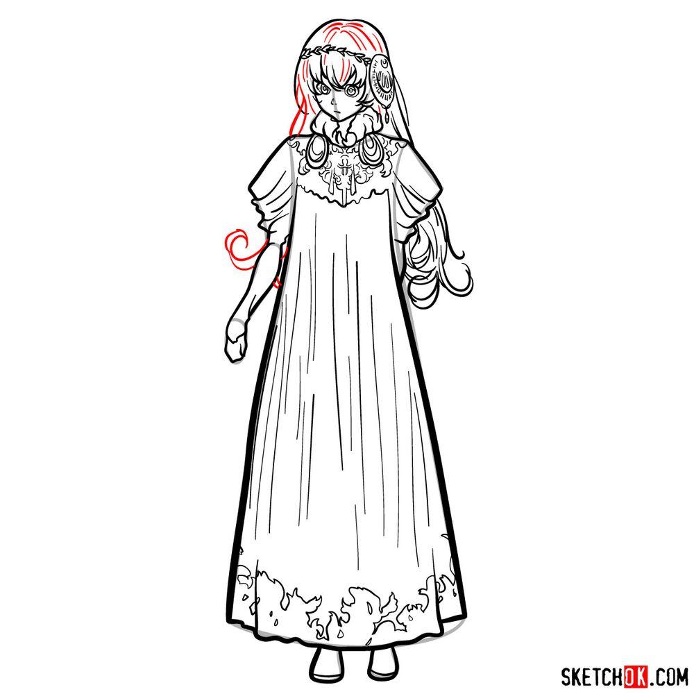 How to draw Lux Sibyl - step 18