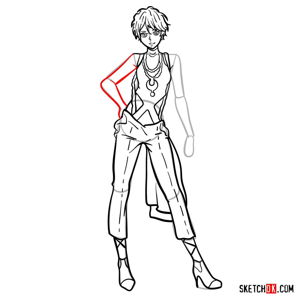 How to draw Iris Cannary - step 14
