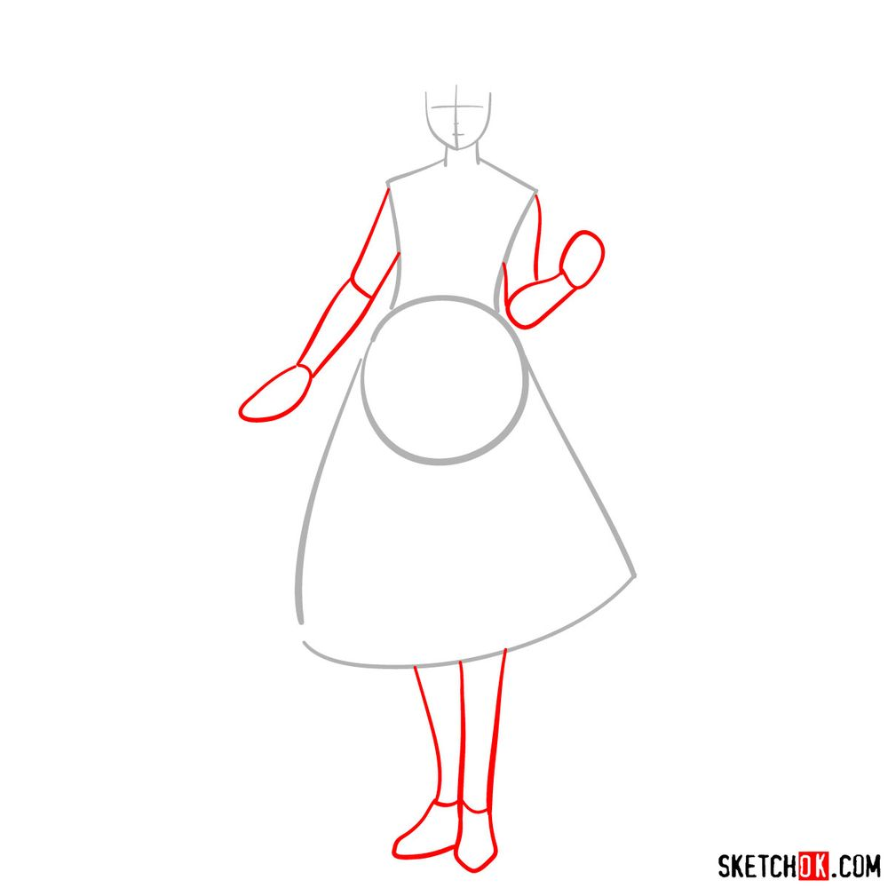 How to draw Erica Brown - step 02