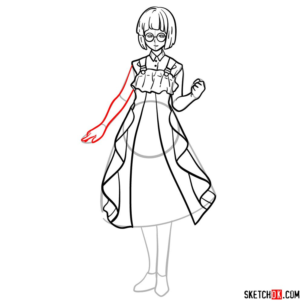 How to draw Erica Brown - step 13