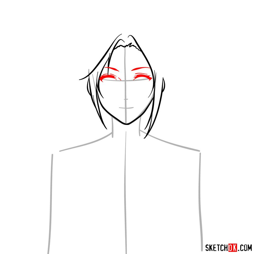 How to draw Cattleya Baudelaire's face - step 05