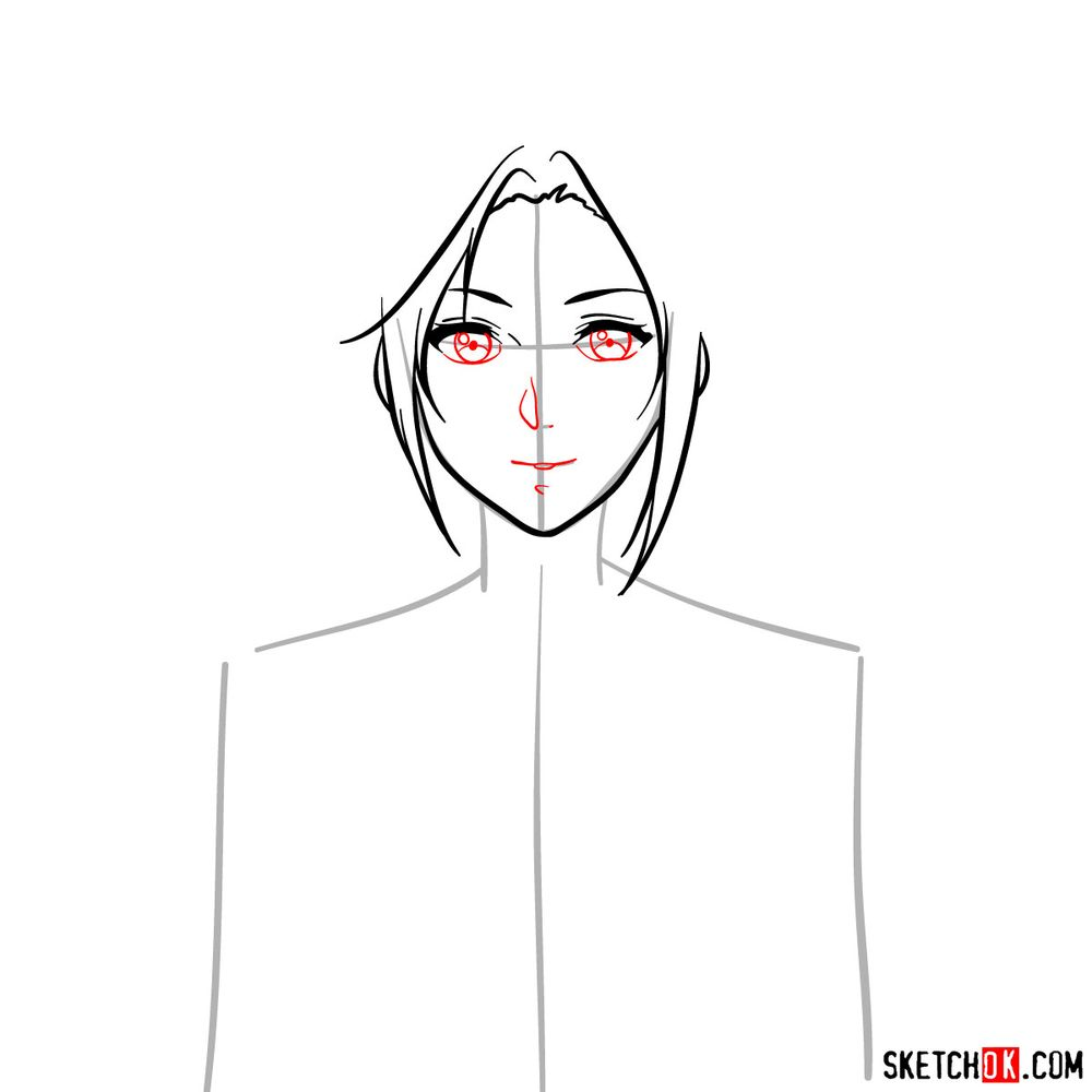 How to draw Cattleya Baudelaire's face - step 06