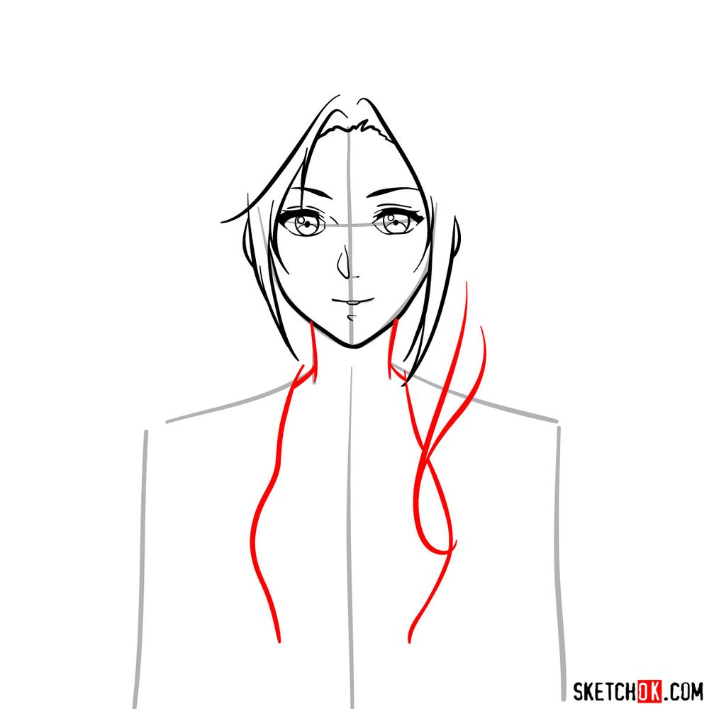 How to draw Cattleya Baudelaire's face - step 07