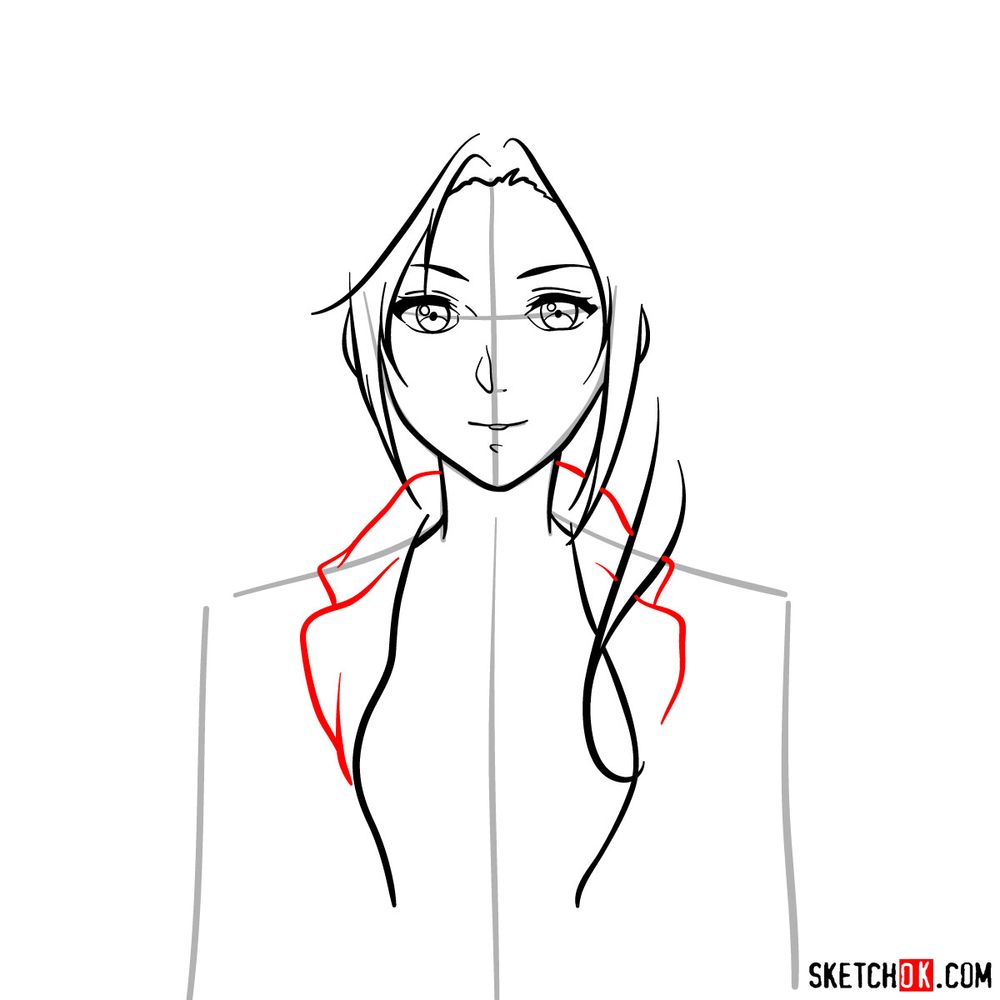 How to draw Cattleya Baudelaire's face - step 08