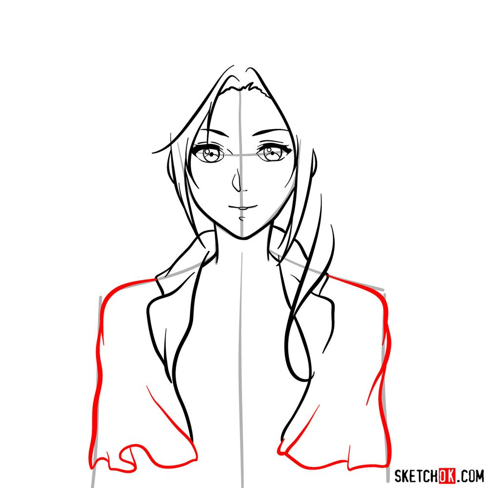 How to draw Cattleya Baudelaire's face - step 09
