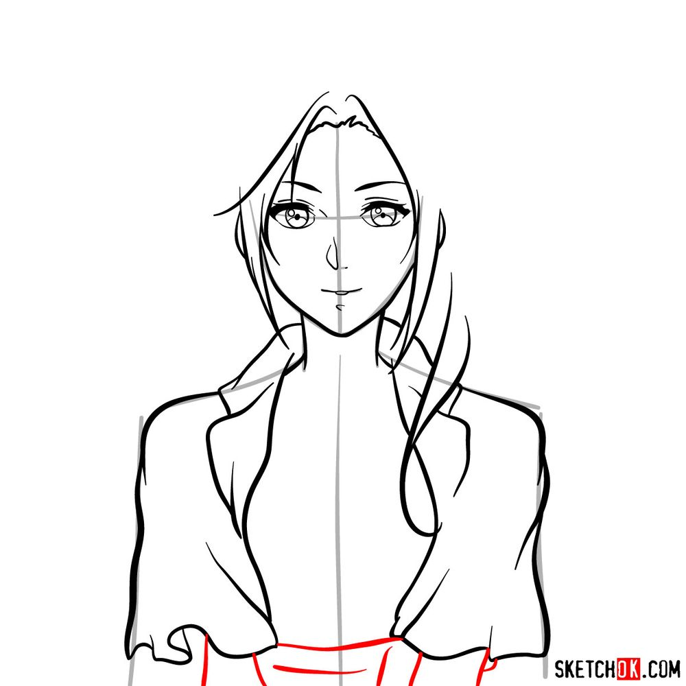 How to draw Cattleya Baudelaire's face - step 10