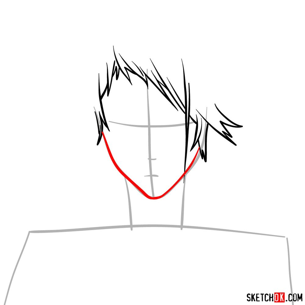 How to draw Benedict Blue's face - step 04