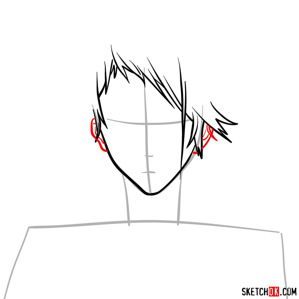 How to draw Benedict Blue's face - step 05