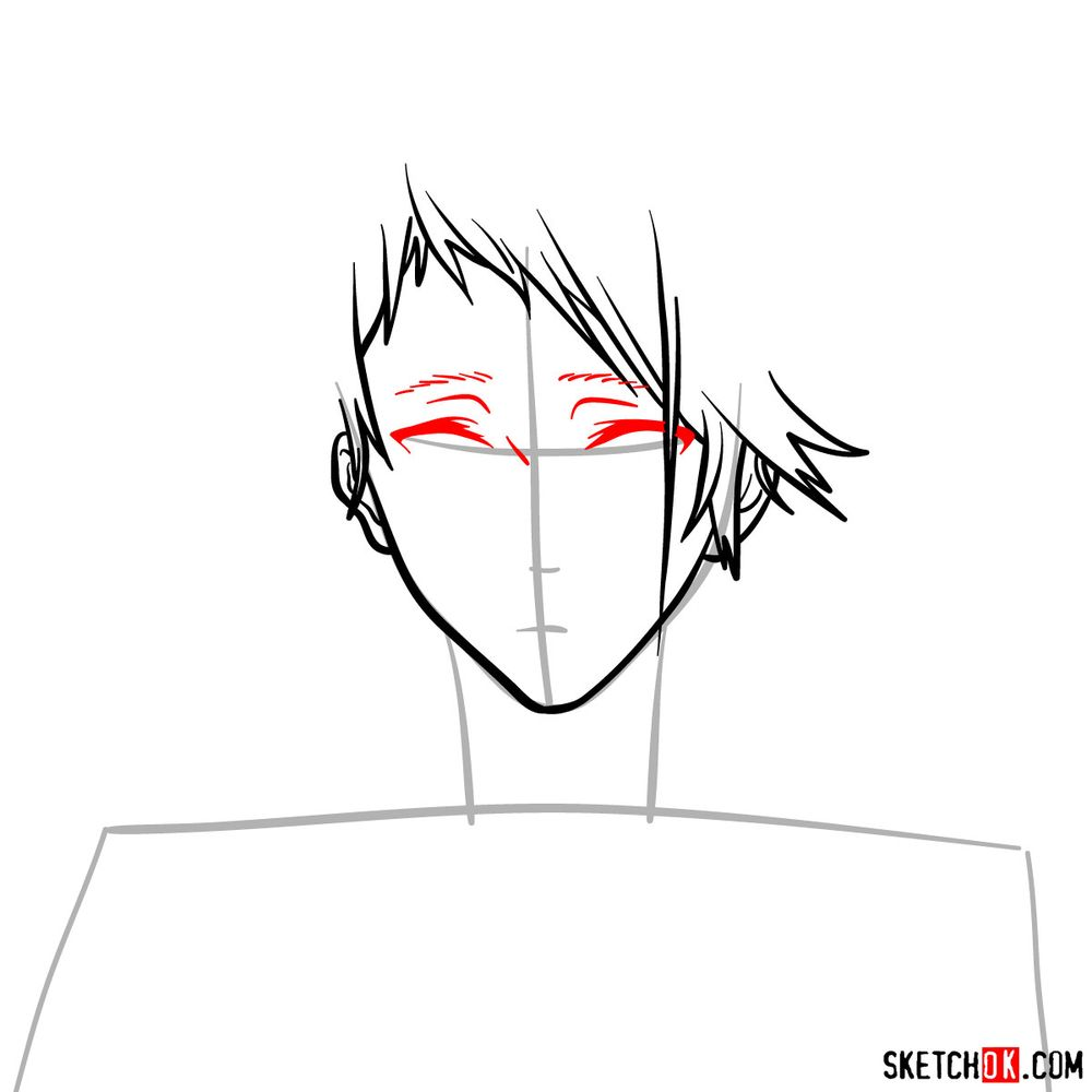 How to draw Benedict Blue's face - step 06