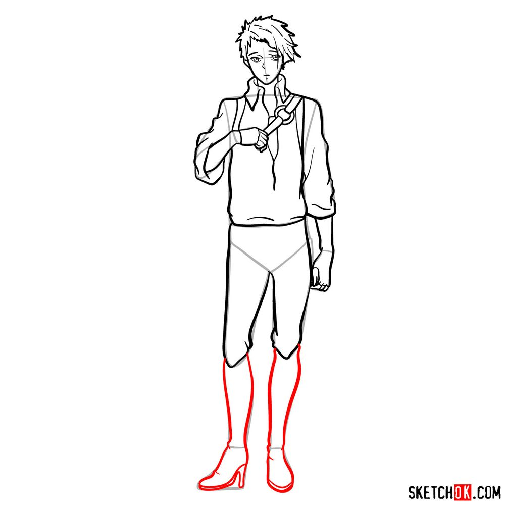 How to draw Benedict Blue - step 14
