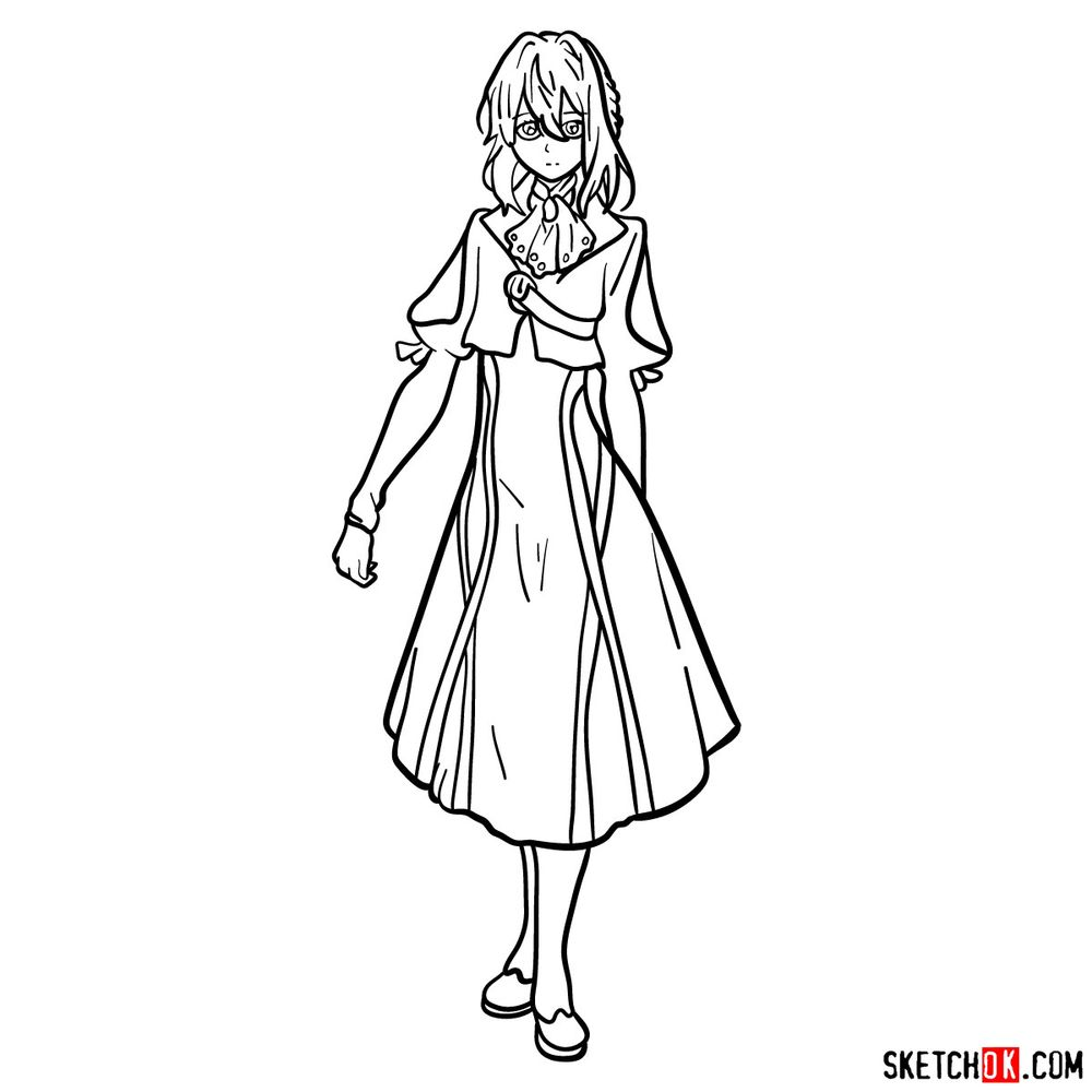 How to draw Violet Evergarden