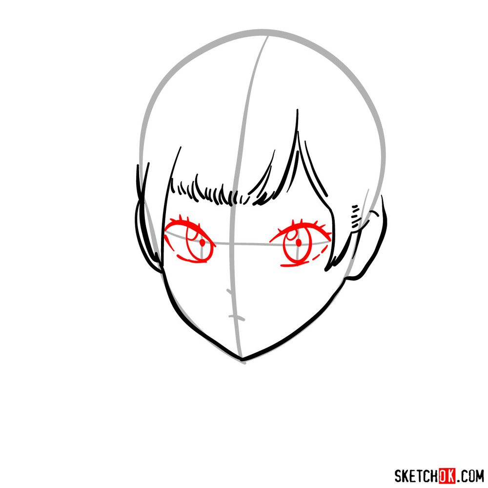 How to draw Noelle Silva from Black Clover anime - step 05