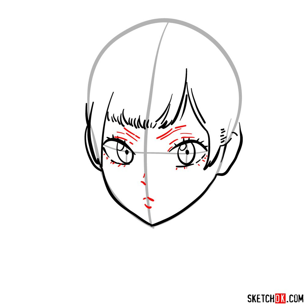 How to draw Noelle Silva from Black Clover anime - step 06