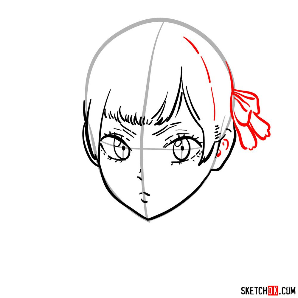 How to draw Noelle Silva from Black Clover anime - step 07