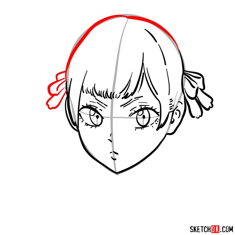How to draw Noelle Silva from Black Clover anime - step 08