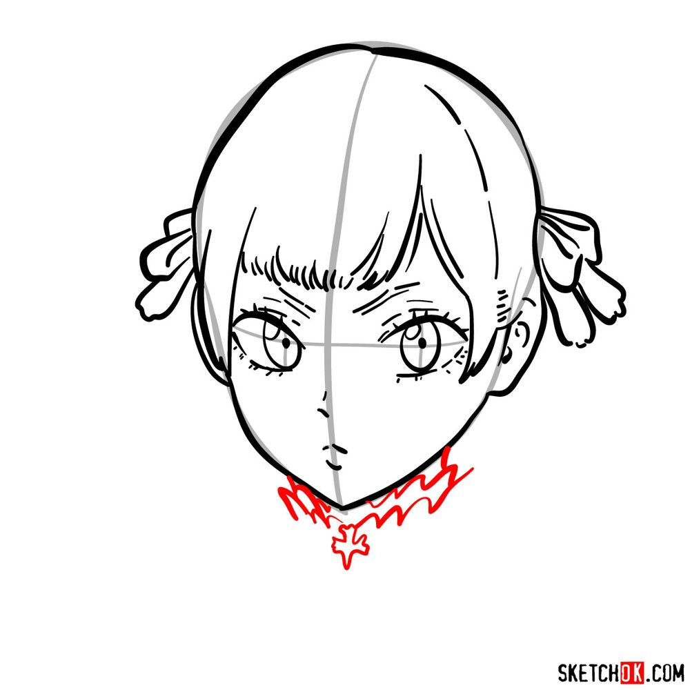 How to draw Noelle Silva from Black Clover anime - step 09