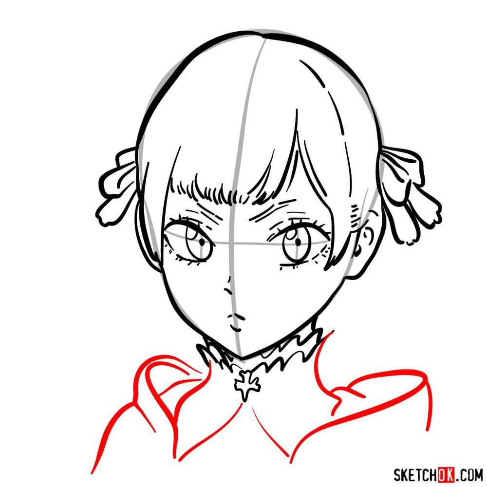How to draw Noelle Silva from Black Clover anime - step 10
