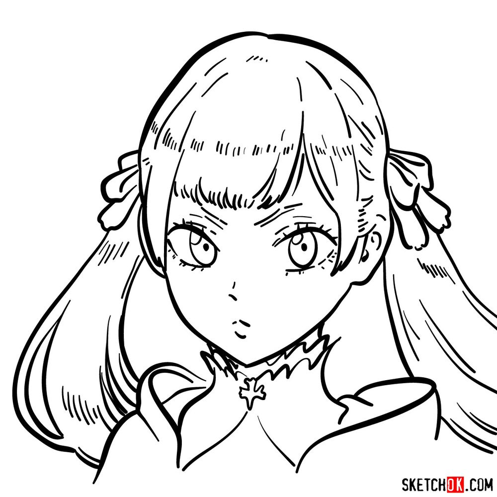 How to draw Noelle Silva from Black Clover anime
