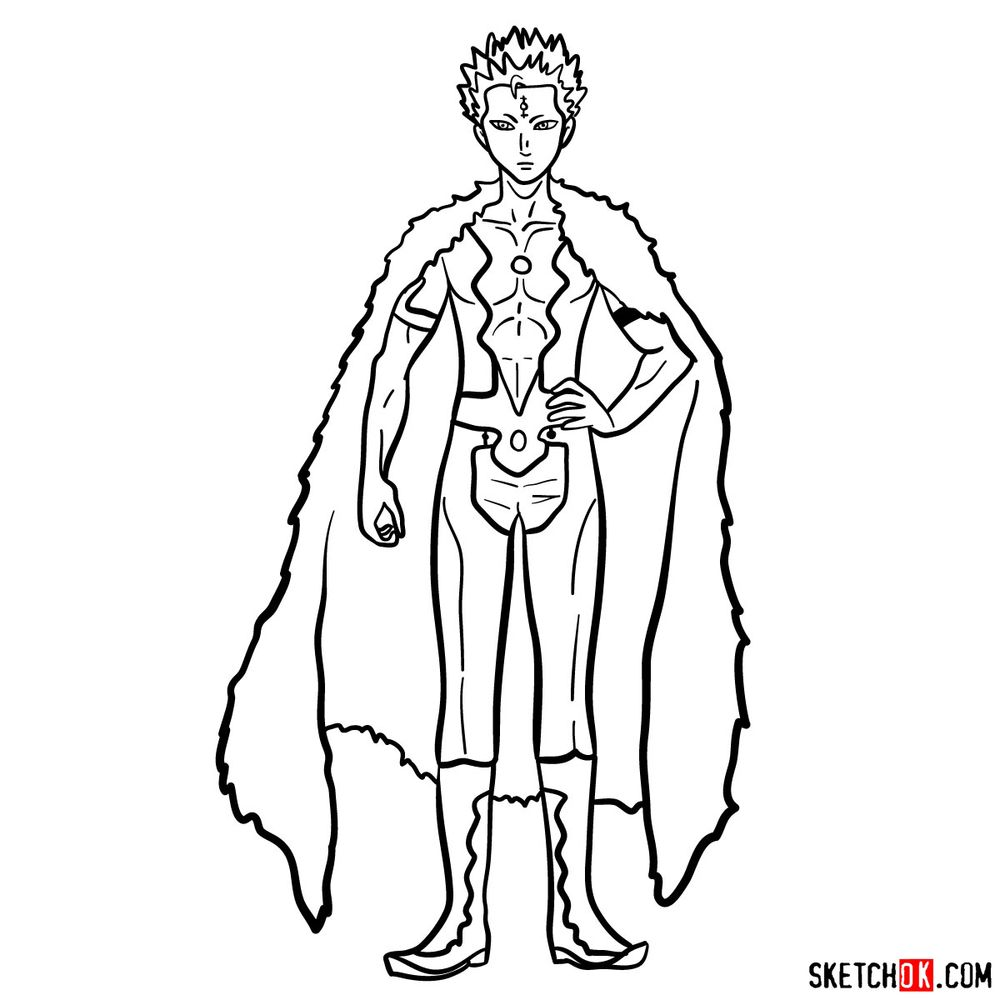 How to draw Mars from Black Clover anime