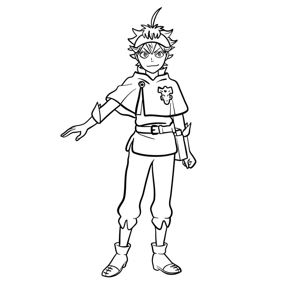 How to draw Asta in full growth