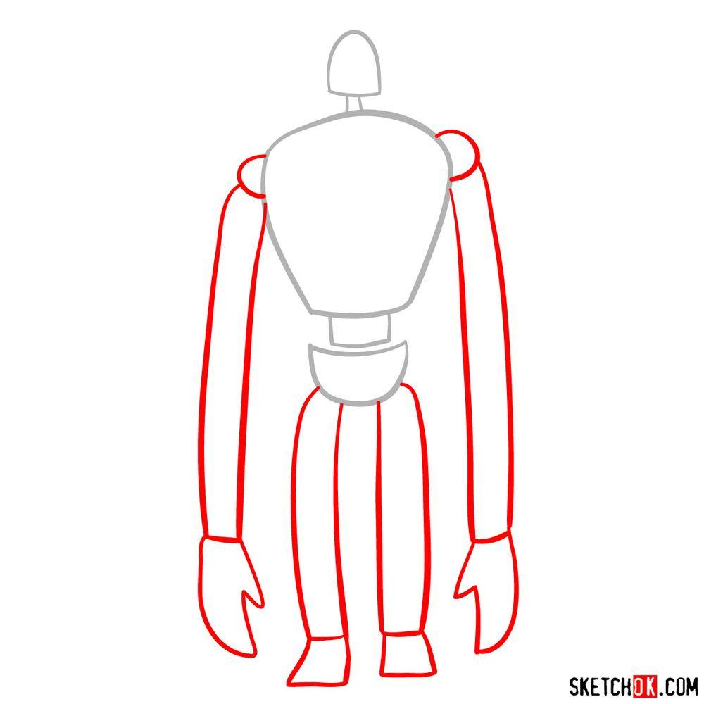 How to draw a Laputian robot - step 02