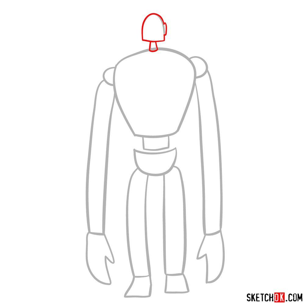 How to draw a Laputian robot - step 03