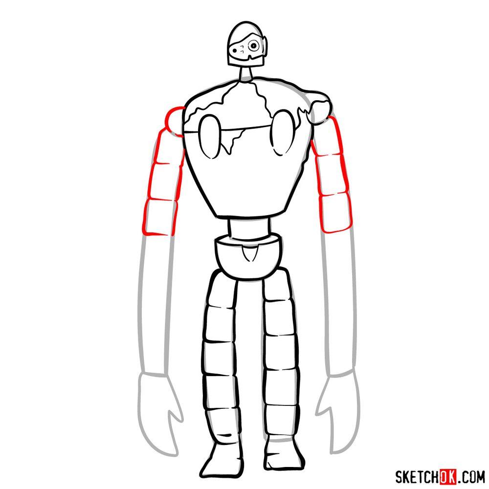 How to draw a Laputian robot - step 11