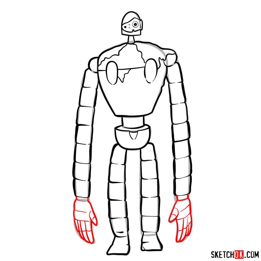 How to draw a Laputian robot - step 13