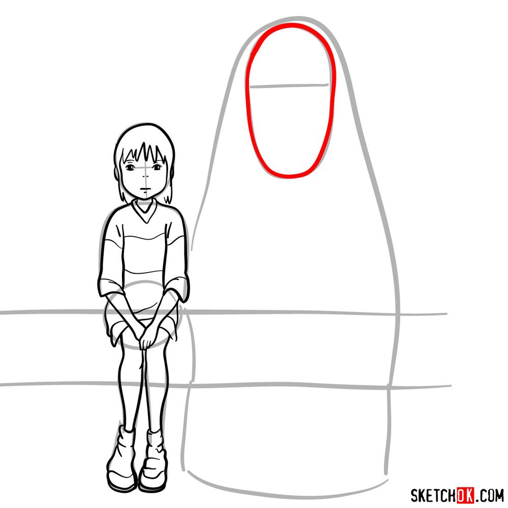 How to draw Chihiro and No-Face together - step 11
