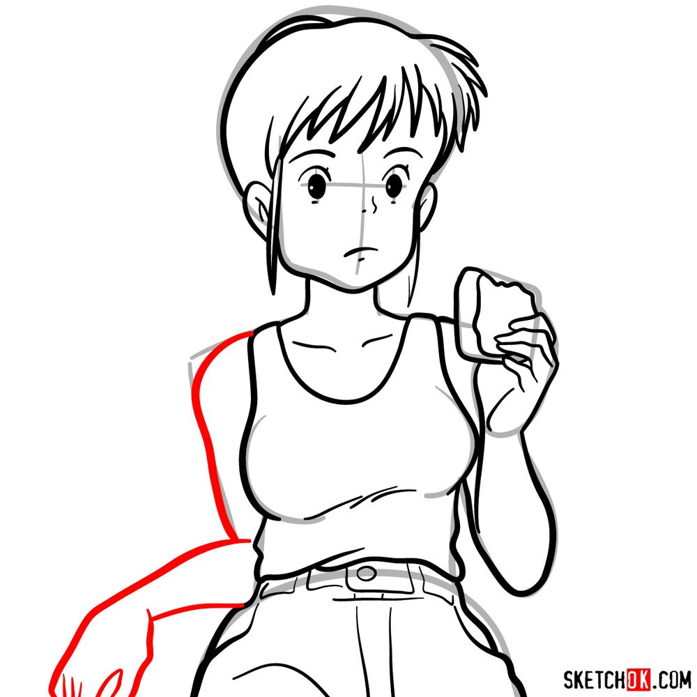 Making a sketch of Ursula (Ghibli) - step 12