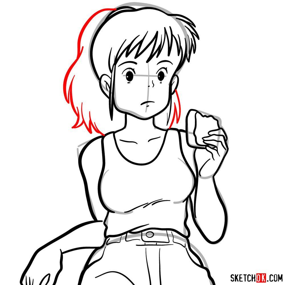 Making a sketch of Ursula (Ghibli) - step 13