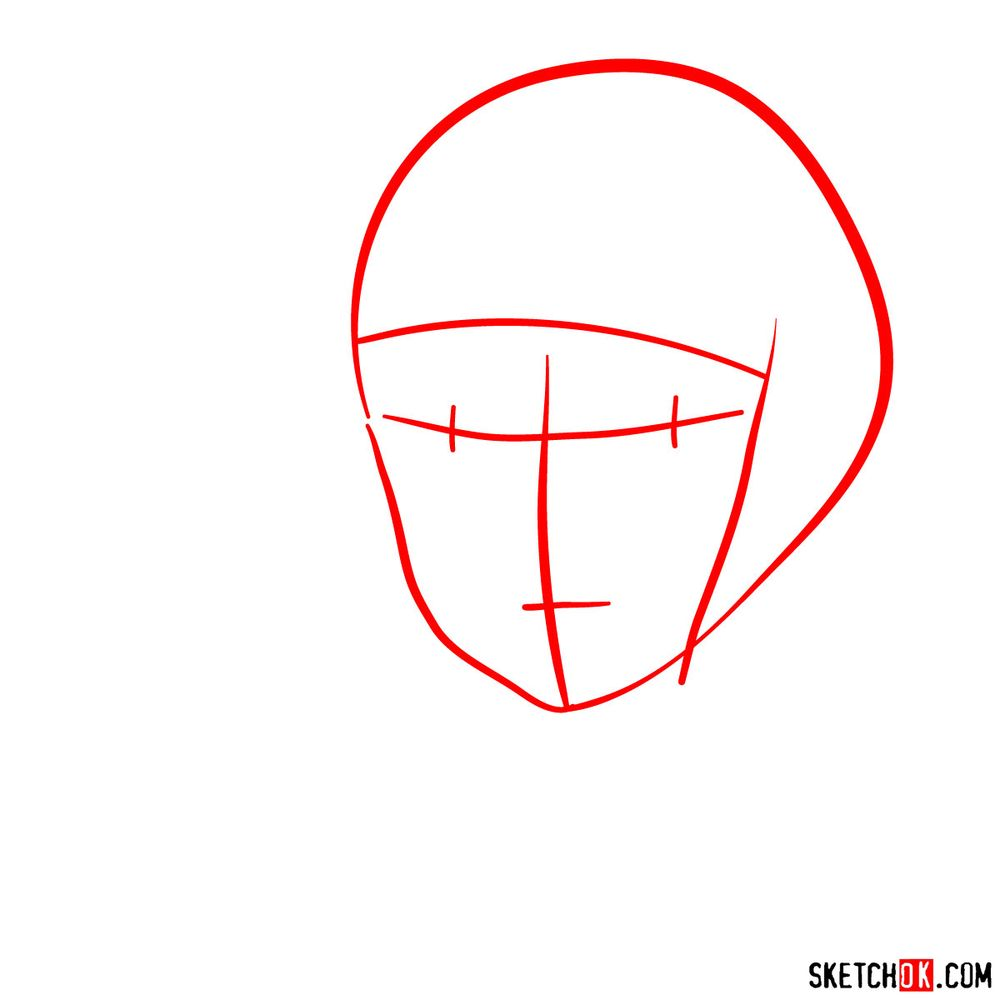 How to draw Haku (Spirited Away) - step 01