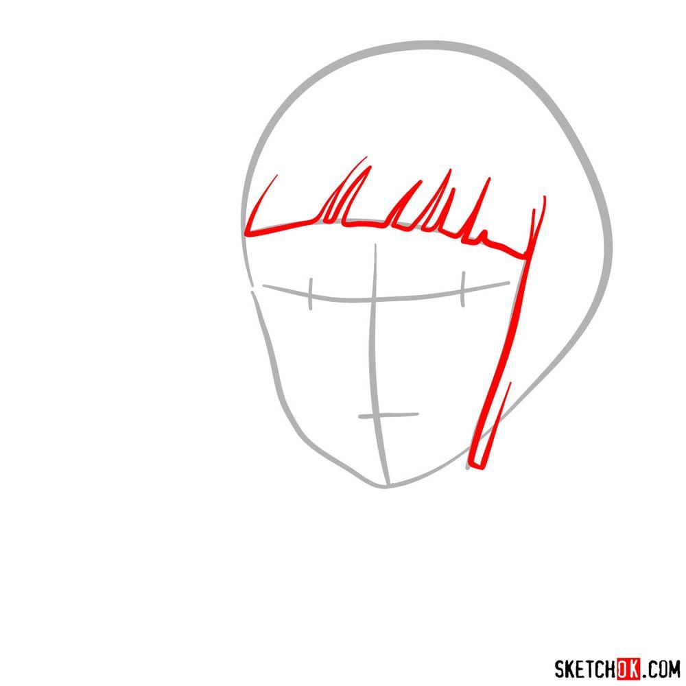 How to draw Haku (Spirited Away) - step 02