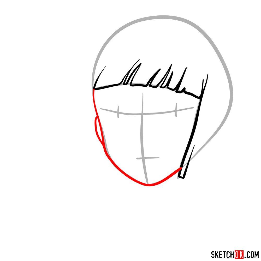 How to draw Haku (Spirited Away) - step 03