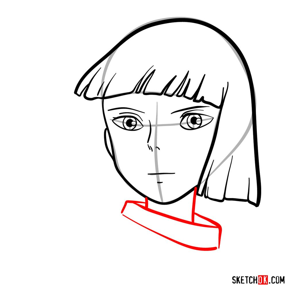 How to draw Haku (Spirited Away) - step 07